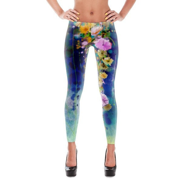 Floral lush Leggings - Hutsylife - 1