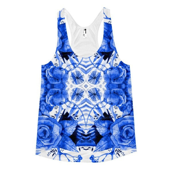 All over print - Boherian floral Women's racerback tank - Hutsylife - 1