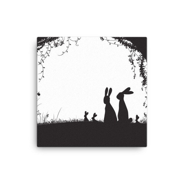 Rabbit hideout Canvas - Hutsylife - 1