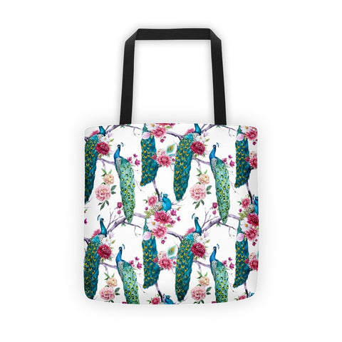 Peacock stand Tote bag