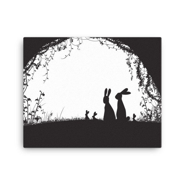 Rabbit hideout Canvas - Hutsylife - 2