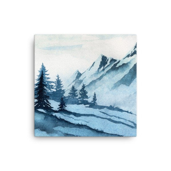 Watercolor mountain Canvas - Hutsylife - 1