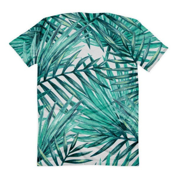 All over print - Tropical Hidden leaf Women's Sublimation T-Shirt - Hutsylife - 2