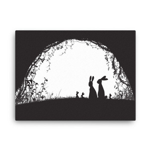 Rabbit hideout Canvas - Hutsylife - 3