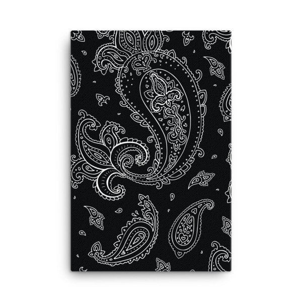 Black Paisley Canvas - Hutsylife - 4