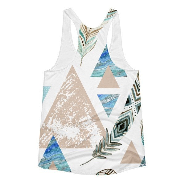 All over print - Geometric 80's grunge Women's racerback tank - Hutsylife - 2