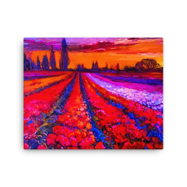Tulip field Canvas - Hutsylife - 2
