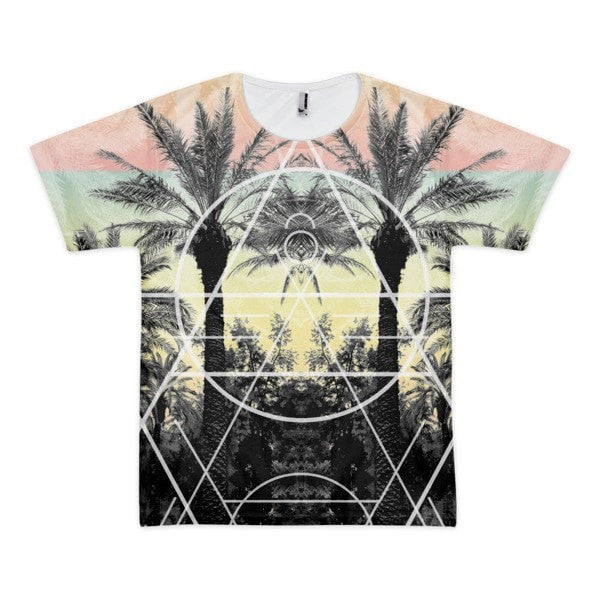 All over print - Palm Reflection Short sleeve men's t-shirt - Hutsylife - 1