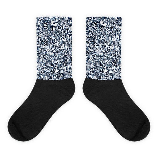 Vegas life Black foot socks