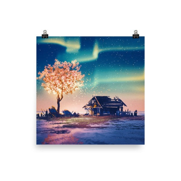Northern lights Poster - Hutsylife - 2