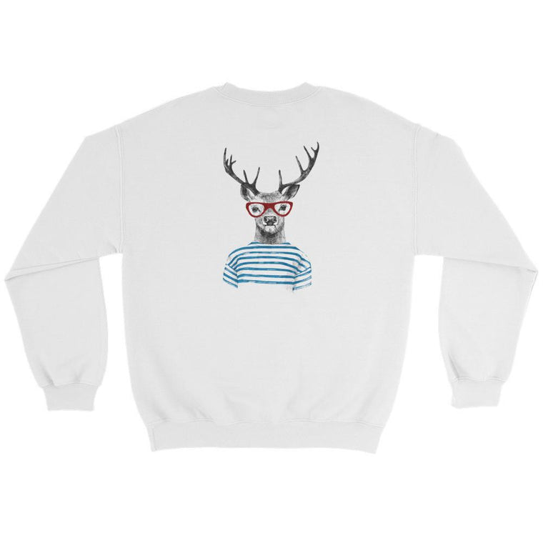Hutsylife Crew - Deer Stripes (Back print)