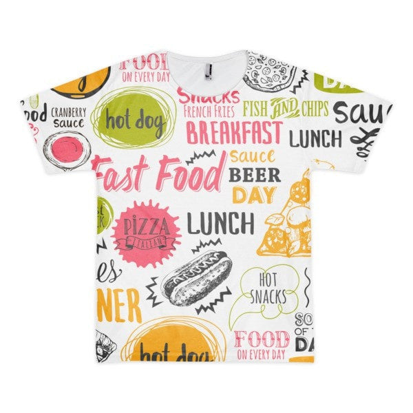 All over print - Food love Short sleeve men's t-shirt - Hutsylife - 1