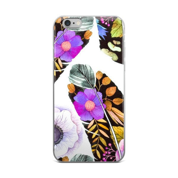 Birds feather iPhone case - Hutsylife - 2