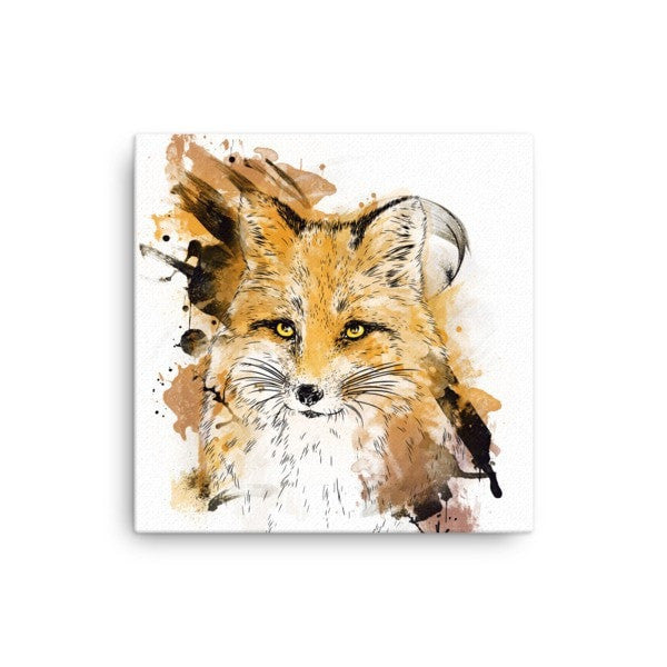 Watercolor fox Canvas