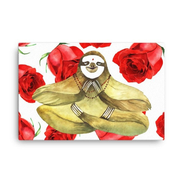 Rose sloth Canvas - Hutsylife - 4