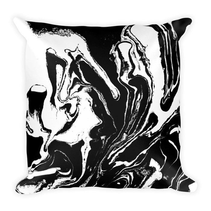 Black marble pillowcase
