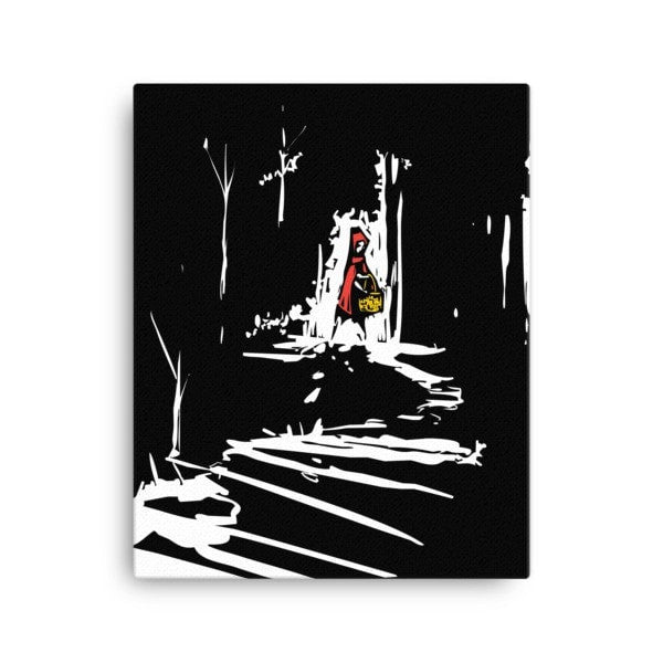 Red riding hood Canvas - Hutsylife - 2