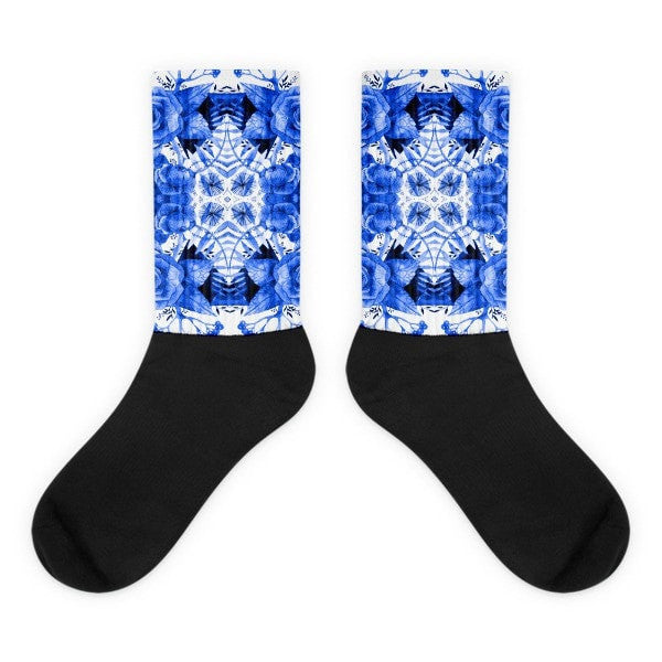 Boherian floral Black foot socks - Hutsylife