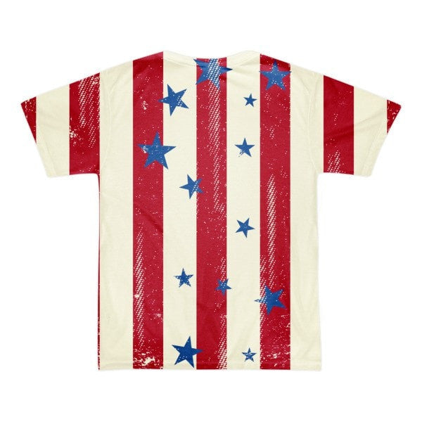 All over print - Patriot Rain Short sleeve men's t-shirt - Hutsylife - 2