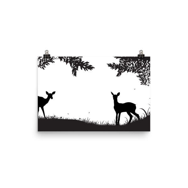 Lookout Deer Poster - Hutsylife - 3