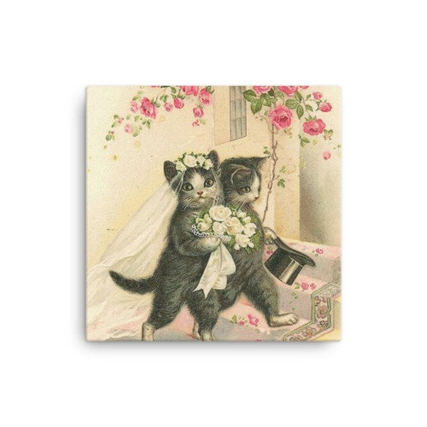 Married cat Canvas
