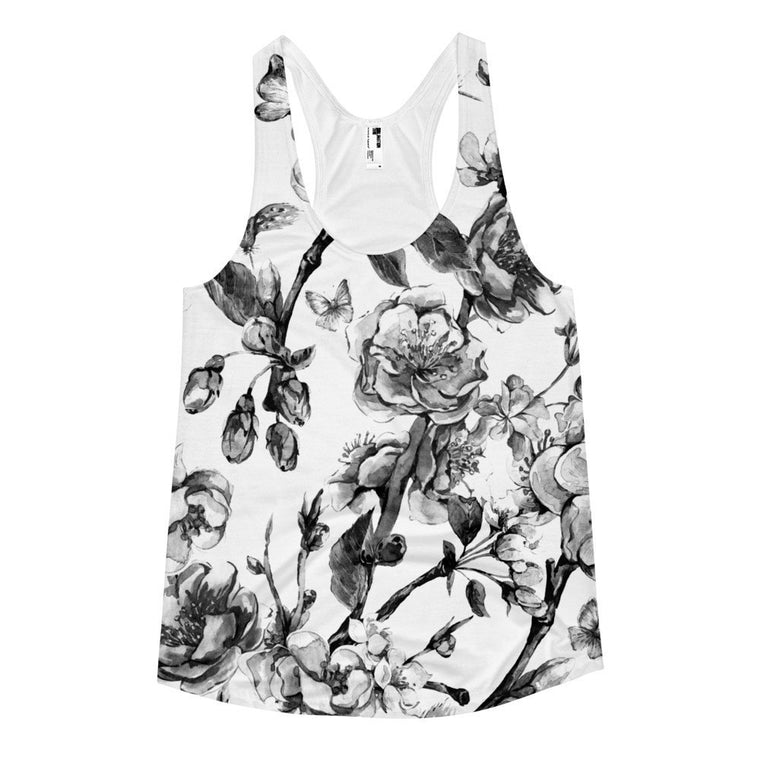 All over print - Faded vine Women's racerback tank