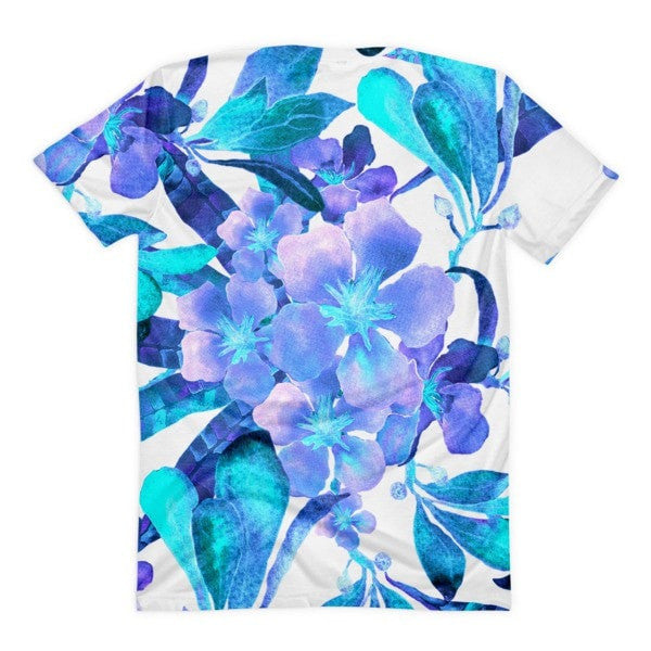 All over print - Light blue flow Women's sublimation t-shirt - Hutsylife - 2