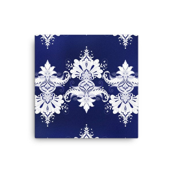 Blue & white flow Canvas - Hutsylife - 1