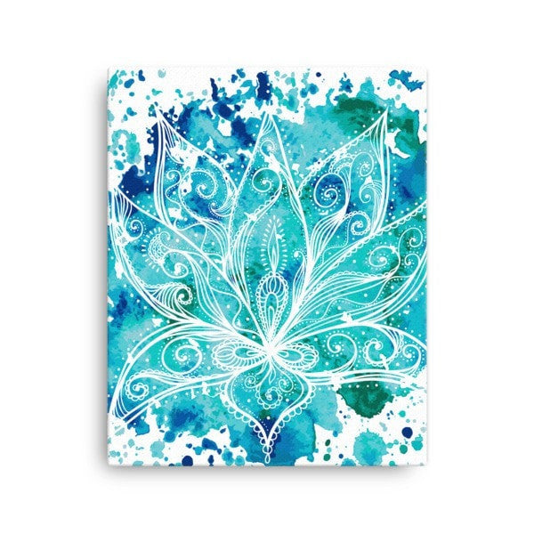 Boho lotus Canvas - Hutsylife - 2