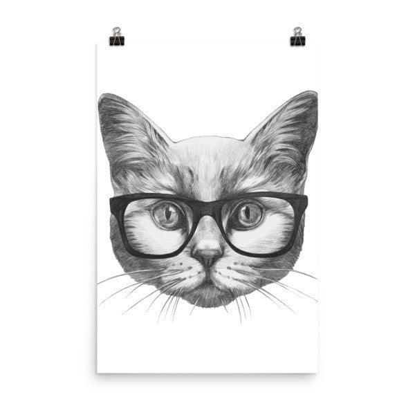 Eyeglass cat Poster - Hutsylife - 8
