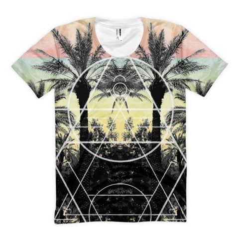 All over print - Palm Reflection Women's Sublimation T-Shirt