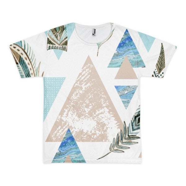 All over print - Geometric 80's grunge Short sleeve men's t-shirt - Hutsylife - 1