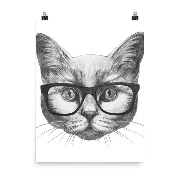 Eyeglass cat Poster - Hutsylife - 6