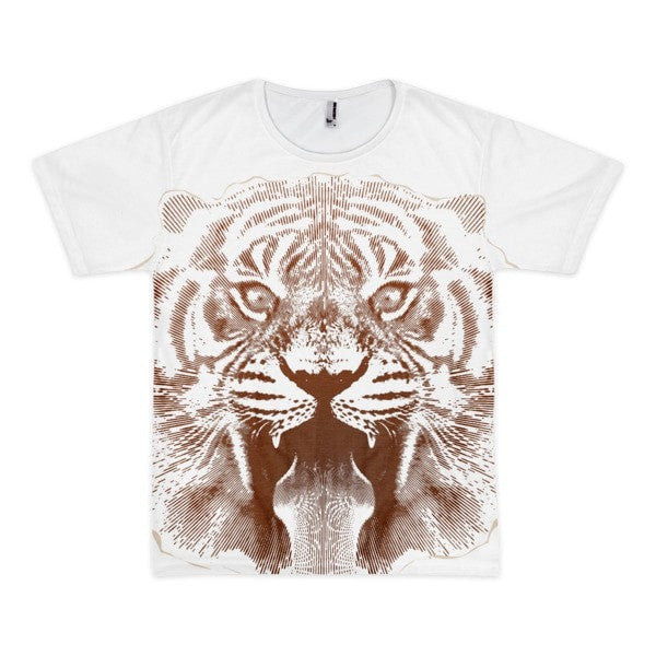 Tiger roar Short sleeve men's t-shirt - Hutsylife