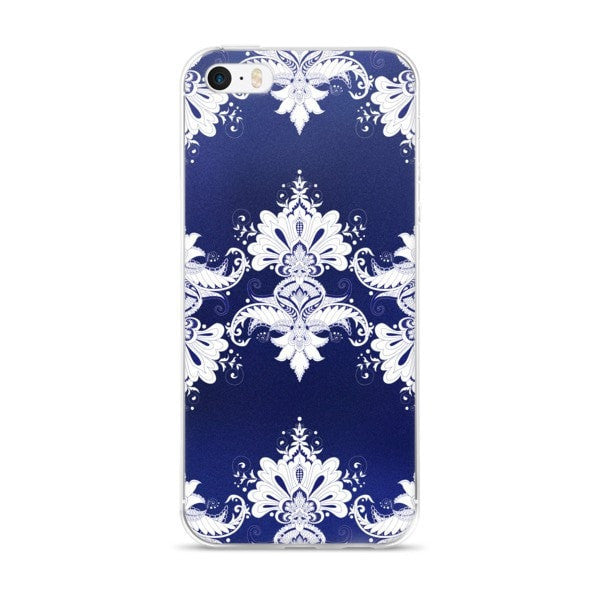 Blue white flow iPhone case - Hutsylife - 1