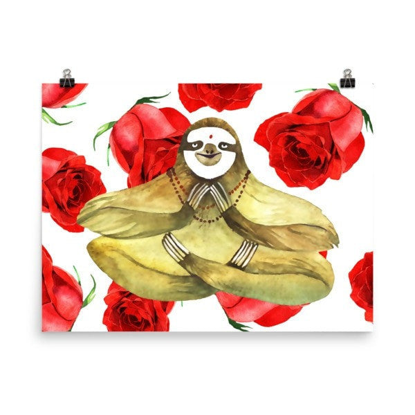 Rose sloth Poster - Hutsylife - 6