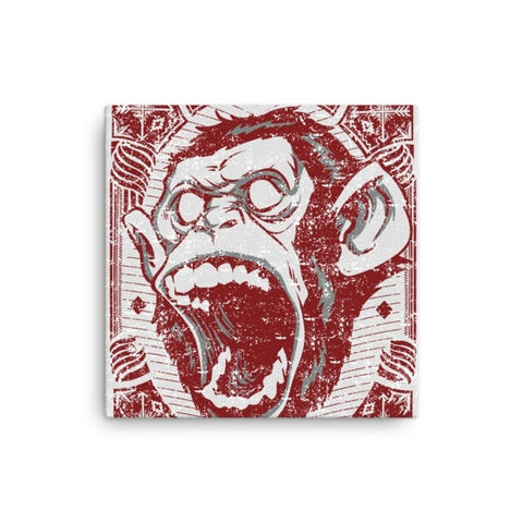 Angry monkey Canvas