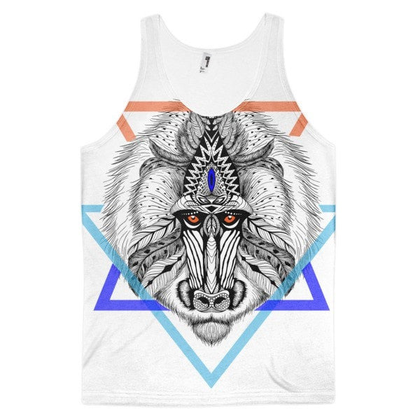 Aztec Baboon Classic fit men's tank top - Hutsylife