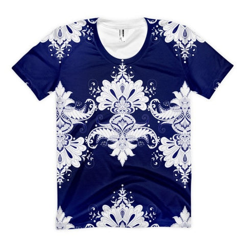 All over print - Blue & white flow Women's sublimation t-shirt