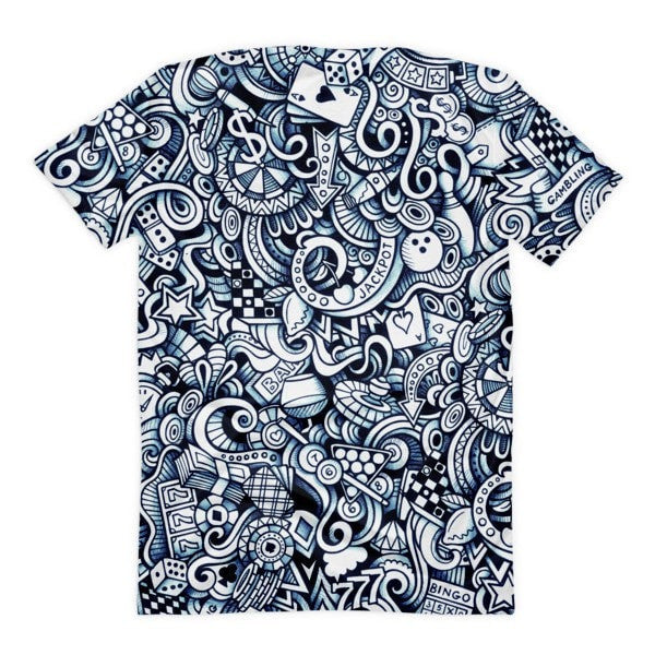 All over print - Vegas life Women's Sublimation T-Shirt - Hutsylife - 2