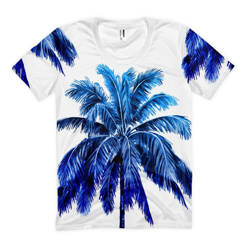 All over print - Blue palm Women's sublimation t-shirt