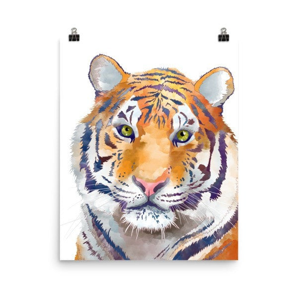 Watercolor Tiger Poster - Hutsylife - 9
