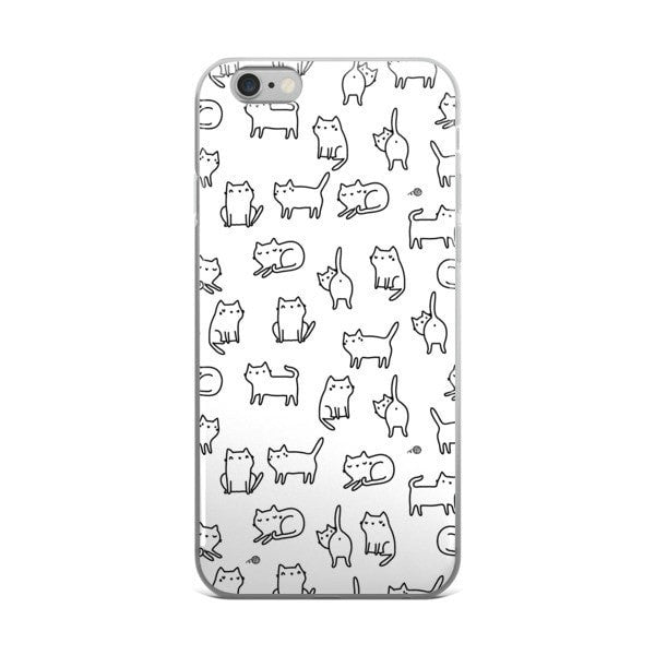 Cat doodle iPhone case - Hutsylife - 2