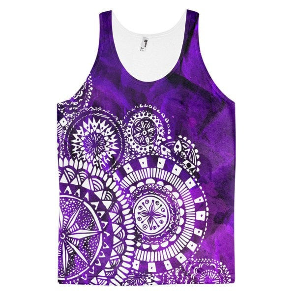 All over print - Purple Veritas Classic fit Men's tank top - Hutsylife - 1
