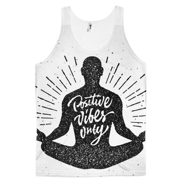 Meditate vibes Classic fit men's tank top - Hutsylife
