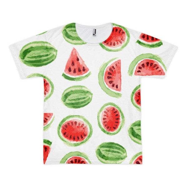 All over print - Watermelon Short sleeve men's t-shirt - Hutsylife - 1