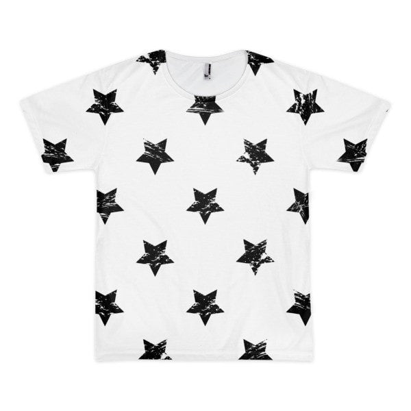 All over print - White star Short sleeve men's t-shirt - Hutsylife - 1