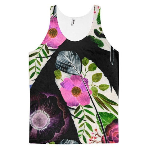 All over print - Black feather Classic fit men's tank top