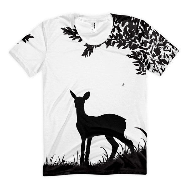 Frontal Print -One deer Women's Sublimation T-Shirt