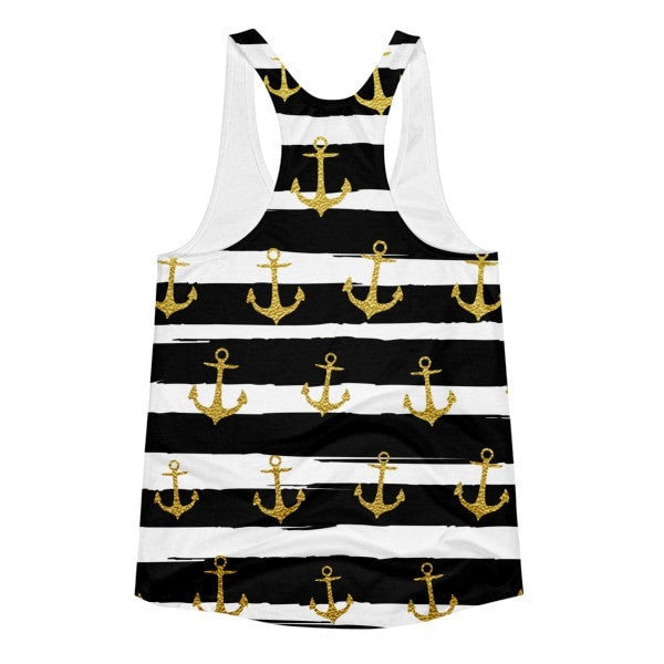 All over print - Gold hook Women's racerback tank - Hutsylife - 2